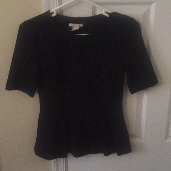 H&M Tops - Black peplum top